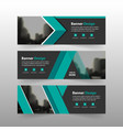 green triangle business banner template horizontal vector image vector image
