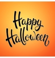 Halloween brush lettering Decoration for Halloween vector image