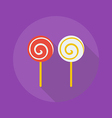 Halloween Flat Icon Lollipop vector image vector image