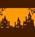 halloween with dark castle collection vector image vector image