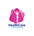 health care logo template design vector image vector image