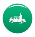 hijacker icon green vector image vector image