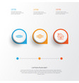 holiday icons set collection of sweet vector image