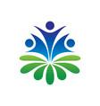human leaf ecology logo image vector image vector image