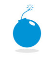 icon of a bomb for website or mobile application vector image vector image