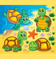 image with turtle theme 2 vector image