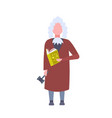 judge man court worker holding book and hummer low vector image vector image