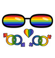 lgbt rights symbol love is love concept with vector image