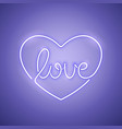 love neon sign purple vector image vector image