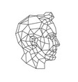 low poly a mans head outline drawing retro vector image vector image
