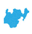 map of nigeria high detailed map - nigeria vector image