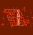 medicine concept acronym vector image