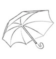 monochrome single icon with an umbrella vector image