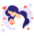 mother in love holding baby vector image