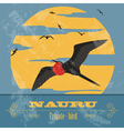 Nauru Retro styled image vector image vector image