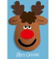 Paper Christmas reindeer head vector image vector image