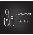Pomade painted with chalk on blackboard vector image vector image