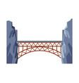 railroad bridge architectural design element vector image vector image
