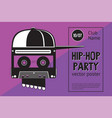 rap battle sign with skull and two microphones vector image vector image