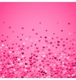 Romantic pink heart background vector image vector image