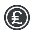 Round black pound sterling sign vector image vector image