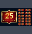 royal label design for anniversary vector image vector image