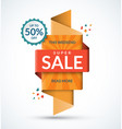 sale banner discount and special offer template vector image vector image
