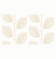 seamless leafs pattern white and gold vector image vector image