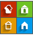 set of 4 house icons vector image vector image