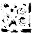 Set of black blots and ink splashes Abstract eleme vector image vector image