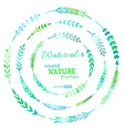set of watercolour nature frames vector image vector image