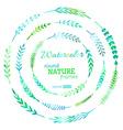 set of watercolour nature frames vector image