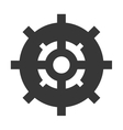 ship helm icon vector image