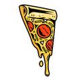 slice italian pizza design vector image vector image