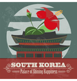 South Korea landmarks Retro styled image vector image vector image