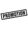 square grunge black promotion stamp vector image vector image