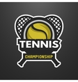 Tennis sports logo label emblem vector image