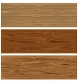 Three variants of wooden texture vector image vector image