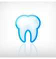 tooth dental icon vector image