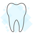 tooth thin line icon stomatology and dental vector image vector image