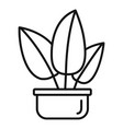 tropical leaf houseplant icon outline style vector image vector image