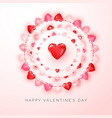 valentines day greeting card with text and vector image