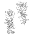 Vintage flowers and decor set vector image vector image