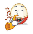 with trumpet rambutan mascot cartoon style vector image vector image