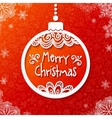 White paper ornate Christmas ball vector image