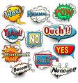 Bright comic speech bubbles screams phrases soun vector image