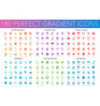 180 trendy perfect gradient icons set of vector image vector image