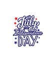 4th july independence day logo lettering vector image