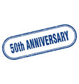 50th anniversary stamp rounded grunge textured
