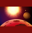 abstract space planet surface vector image vector image